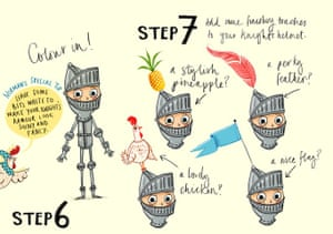 How to draw knights: how to draw 6 and 7