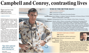 Who is the better man? asks The Australian.