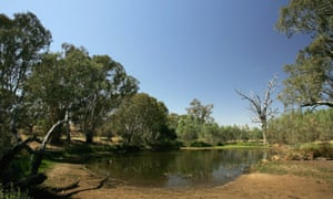 Part of the basin near the NSW-Victoria border in times of drought.