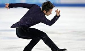 Daisuke Takahashi during men's free skating program at the Sochi 2014 Winter Olympics