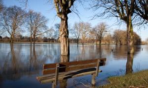 River Thames flooding in Datchet, Berkshire