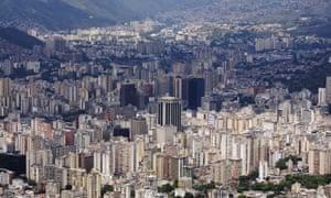 Caracas City As Viewed From The Avila Mountain, Caracas, Venezuela.