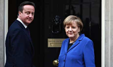 Angela Merkel Visits The UK