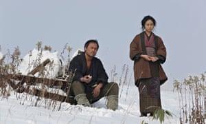 'Expansive widescreen vistas':  Ken Watanabe and Shiori Kutsuna in the Japanese version of Unforgive