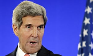 US Secretary of State John Kerry gives a