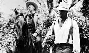 Mason Adams and Avery Brooks in Solomon Northup's Odyssey, 1984.