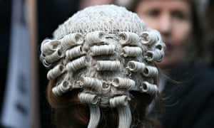 A barrister outside Southwark Crown Court