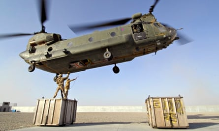 Chinook helicopter at Camp Bastion