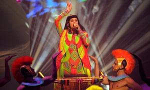 Katy Perry performs Dark Horse