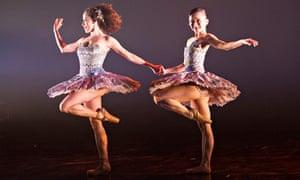 Kanika Carr and Sayaka Ichikawa in A Dream Within a Midsummer Night's Dream.