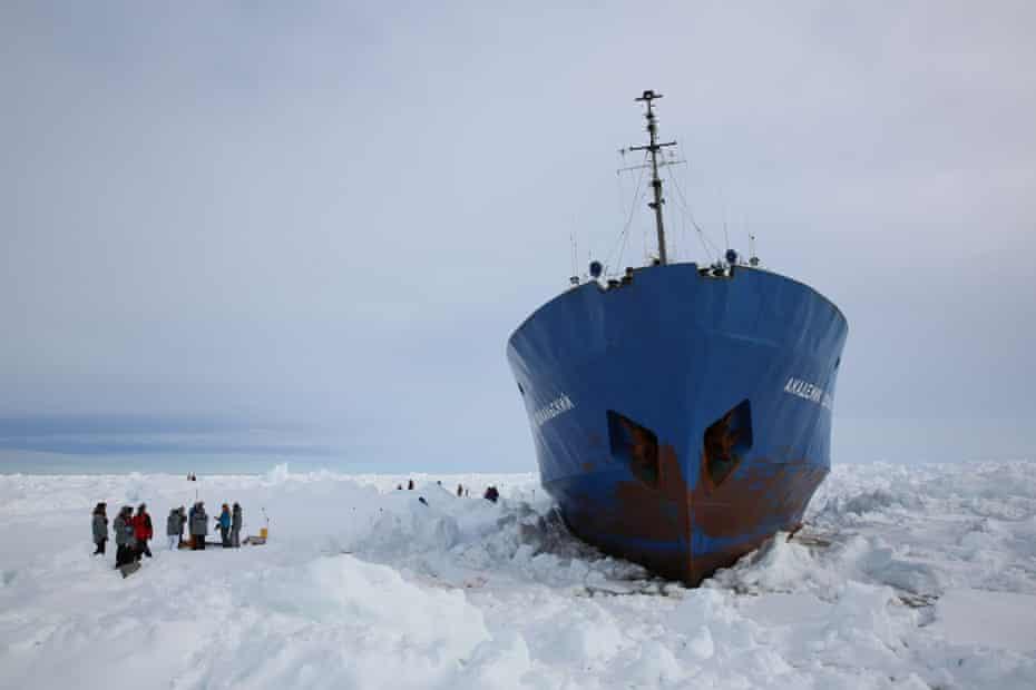 Shokalskiy icebound in Antarctica
