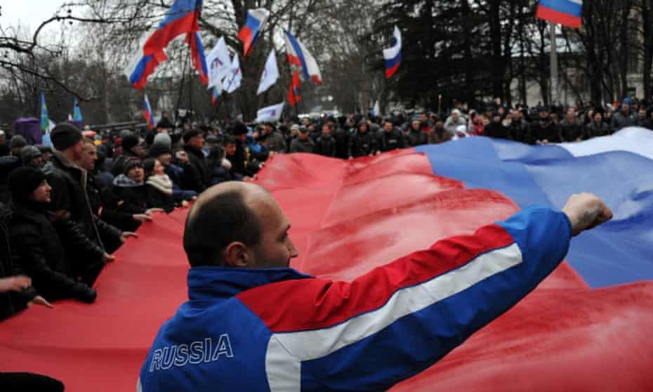Pro-Russia demonstration