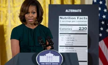Michelle Obama promoting her healthy eating plan.