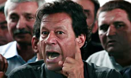 Imran Khan speaks to the media after appearing before the Supreme Court in Islamabad