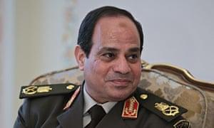 General Abdel Fatah El Sisi Sitting Down