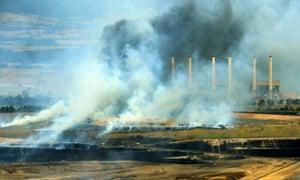 Morwell coal mine fire