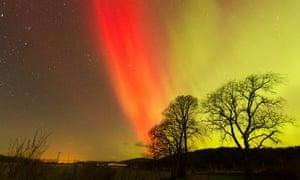 Northern Lights  over Carrbridge, Inverness-shire, Scotland