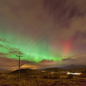 The northern lights over Glasgow