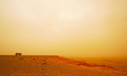 Flaming Cliffs from the Gobi desert. Image shot 2008. Exact date unknown.