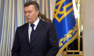 This picture taken on 21 February, 2014 shows Ukrainian President Viktor Yanukovych before the signature of an agreement with the opposition.