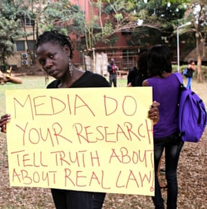 'Mini-skirt ban' protest in Kampala, Uganda