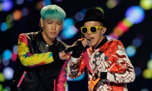 G-Dragon and T.O.P of BIGBANG perform in Seoul, South Korea. Photograph: Chung Sung-Jun/Getty Images