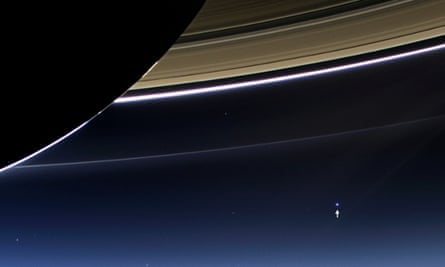 Earth from Saturn by Cassini