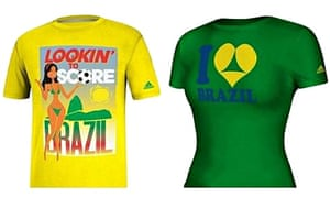 T-shirts withdrawn by Adidas for the Brazil World Cup