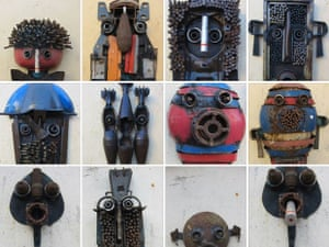 Maputo-born artist Gonçalo Mabunda is best known for twisting AK-47s, rocket launchers and pistols into anthropomorphic forms