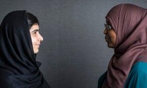Malala Yousafzai and Fahma Mohamed
