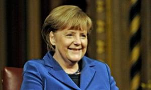 German Chancellor Merkel in London