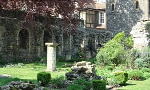 Remains of the monks' dormitory of Canterbury Cathedral