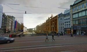 Amsterdam - The Bend in the Herengracht near the Nieuwe Spiegelstraat 1672 Berckheyde