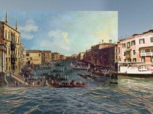 Venice - A Regatta on the Grand Canal 1740 Canaletto