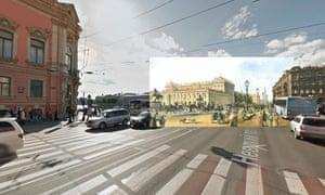 St Petersburg - Nevsky Prospekt by Anichkov Bridge !847 Ludwig Franz Karl Bohnstedt