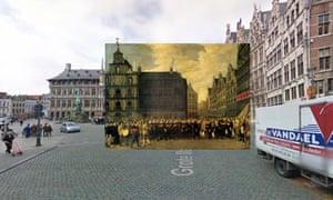 Antwerp - Group Portrait of the Oude Voetboog Guild on the Grote Markt 1643 David Teniers II