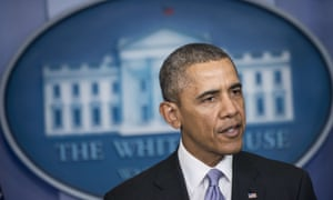 US President Barack Obama speaks about the situation in Ukraine in the briefing room of the White House on February 28, 2014 in Washington.