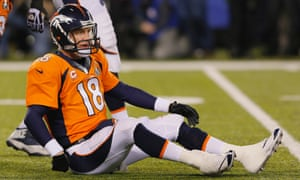 Peyton Manning is down and out as the Seattle Seahawks demolished the Denver Broncos in Super Bowl XLVIII
