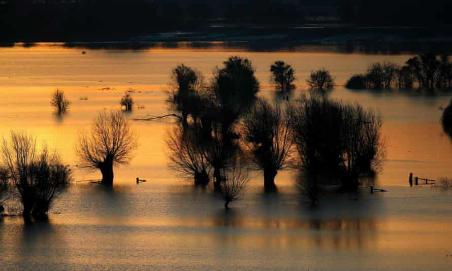 Large areas of Somerset remain under water after the wettest January for more than 200 years.