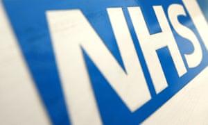 NHS logo blue on white