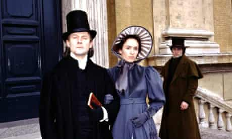 Patrick Malahide as Casaubon, Juliet Aubrey as Dorothea and Rufus Sewell as Will in the BBC's 1994 a
