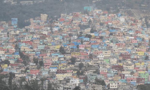 Haiti in the fog.