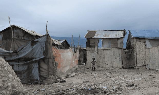 A child in one of Haiti's slum.