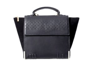 52942957ba63 20 affordable handbags  Affordable handbags - black suede structured  perforated tote by Zara