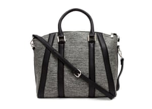 b326de30a79e 20 affordable handbags  Affordable handbags - grey handbag with black straps  by french connection