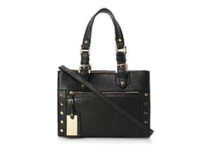 5392d3a54db5 20 affordable handbags  Affordable handbags - black with cross strap and  gold studs on side