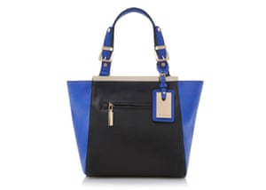 20 affordable handbags  Affordable handbags - metal framed blue and black  winged handbag by Dune 5d456a38a