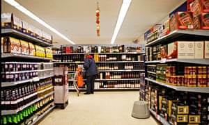 The alcohol aisles of a supermarket