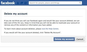 How to delete your facebook account technology the guardian how to delete your facebook account ccuart Images