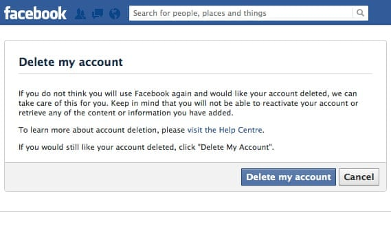 How to delete your Facebook account | Technology | The Guardian